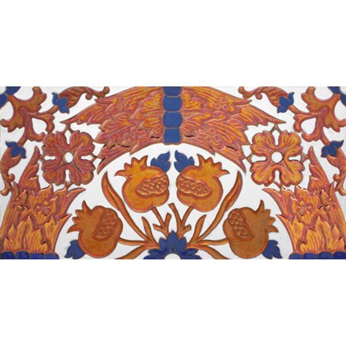 Sevillian relief copper tile MZ-049-941