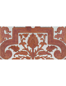 Sevillian relief copper tile MZ-053-91A