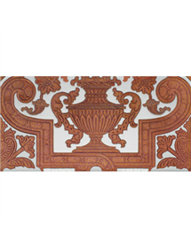 Sevillian relief copper tile MZ-053-91B