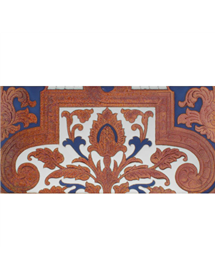 Sevillian relief copper tile MZ-053-941A