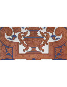 Sevillian relief copper tile MZ-053-941B