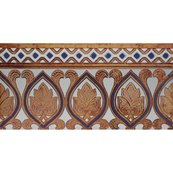 Sevillian relief copper tile MZ-055-941