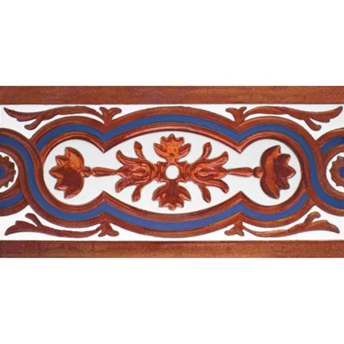Sevillian relief copper tile MZ-056-941