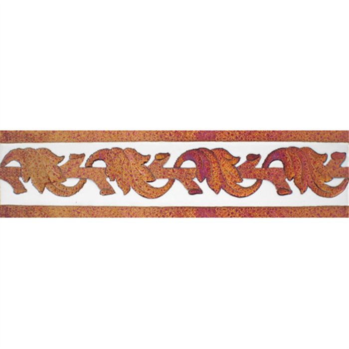 Sevillian relief copper tile MZ-057-91