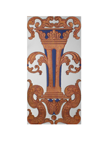 Sevillian relief copper tile MZ-059-941
