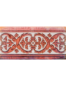 Sevillian relief copper tile MZ-026-91
