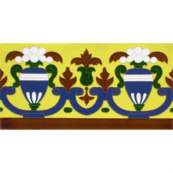 Azulejo Sevillano relieve MZ-027-03