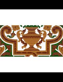 Sevillian relief tile MZ-053-01B