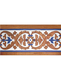 Sevillian relief copper tile MZ-026-941