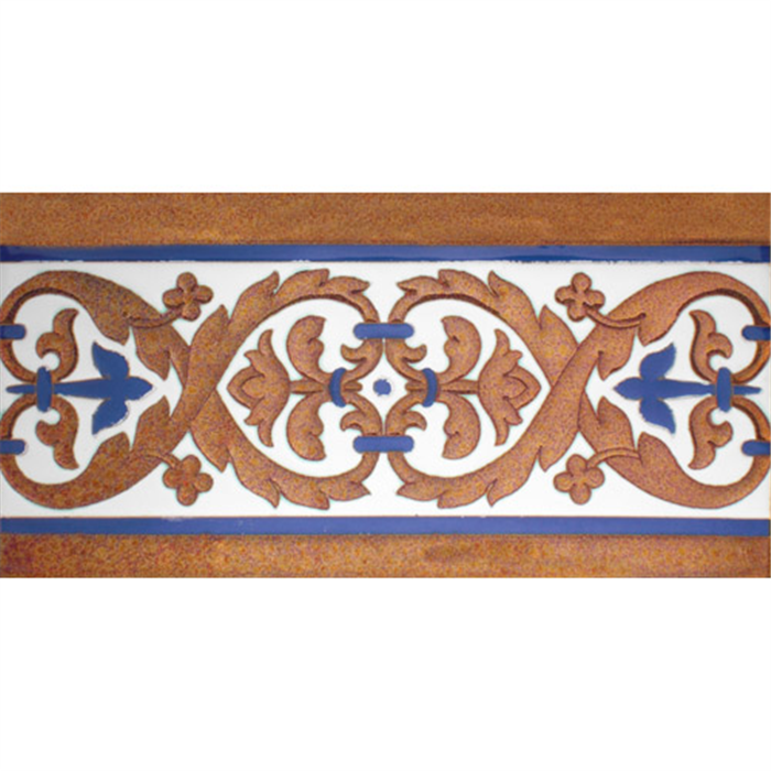Sevillian relief copper tile MZ-026-941