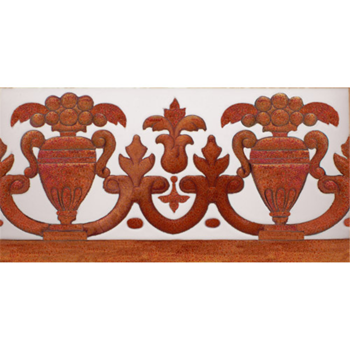 Sevillian relief copper tile MZ-027-91