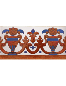 Sevillian relief copper tile MZ-027-941
