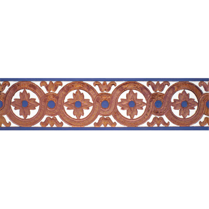Sevillian relief copper tile MZ-029-941