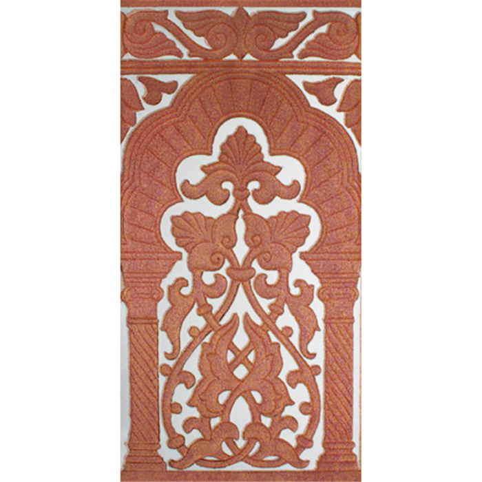 Sevillian relief copper tile MZ-030-91