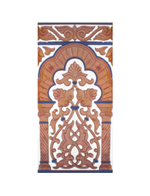 Sevillian relief copper tile MZ-030-941