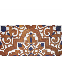Sevillian relief copper tile MZ-032-941