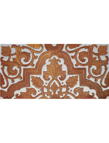 Sevillian relief copper tile MZ-032-91