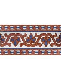 Sevillian relief copper tile MZ-036-941