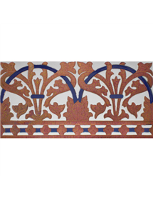 Sevillian relief copper tile MZ-042-941